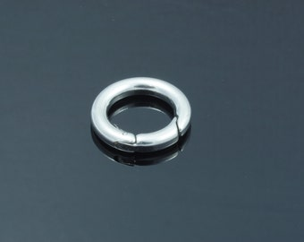 Stainless Steel Key Clasp Findings, Donut, 20x3.5mm