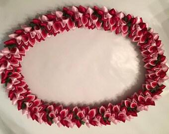 Ribbon Lei, Red Spiral