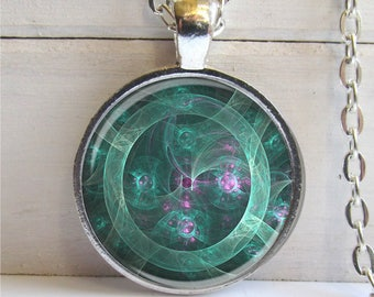 Jade Mechanical Eye Pendant Necklace