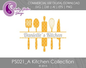 Kitchen Cutting Board, Cutting Board SVG, Split Kitchen Utensils, Kitchen Tools, Kitchen Towel SVG, Housewarming Gift SVG, PS021