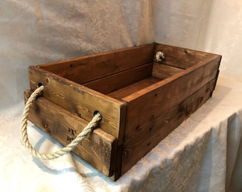Rustic Wood Box, One of a kind Rustic wood creation