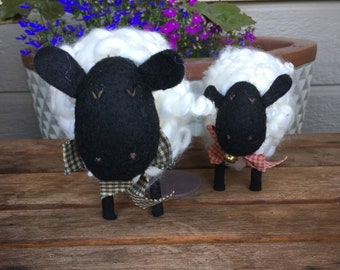 Set of Hand made wooly woolly sheep