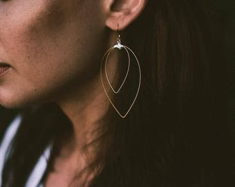 Guitar String Earrings- Double Pic Earrings- Mixed Metal- Drop Earrings- Dangle Earrings- RECYCLED Guitar String Jewelry