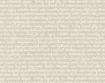 END of BOLT Daysail Tiny Script Gray/Grey by Bonnie & Camille for Moda Fabrics 55108 17