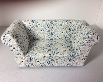 Modern Miniature Dollhouse Sofa Couch Loveseat 1:12 Scale