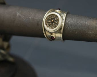 6266 Widow's Mite and Garnet Ring