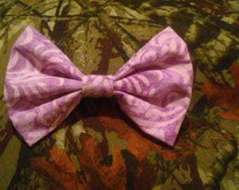 Purple fabric bow