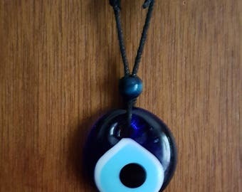 Grecian Glass Evil Eye House Or Personal   Protection Amulet