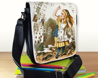 Alice in Wonderland Small Shoulder Bag, Small Crossbody Bag, Small CrossBody Purse, Cross Body Bag, Sling Bag, hipster bag, Small Purse