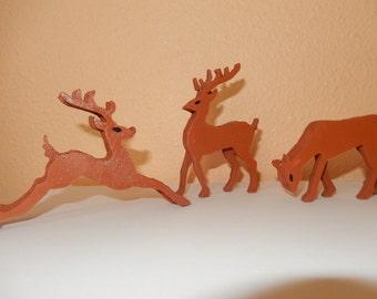 Wooden Reindeer Set