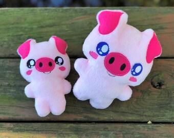 Pig Stuffed Animal - Handmade - Plush Piggy - Baby Pig - Kawaii - Gift for Kids - Toddler Gift - Personalized - Christmas Gift