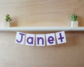 """Custom Name or Phrase Banner - 4"""" Pennants - Custom Colors - Personalized Shower, Party, or Photo Prop"""