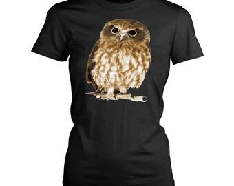 Owl womens fit T-Shirt. Funny Owl shirt.
