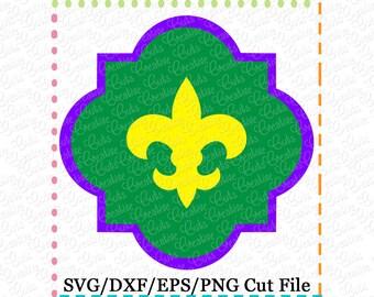 SVG Quatrefoil Mardi Gras Fleur De Lis SVG Cutting File, mardi gras cut file, fleur de lis cutting file, fleur de lis cut file, fleur frame