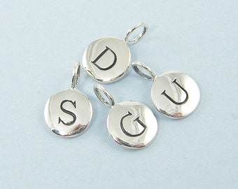Add a Charm, Sterling Silver Initial Charm, Personalized Letter Charm, Initial Sterling Silver Pendant Charm Your Choice |NS3