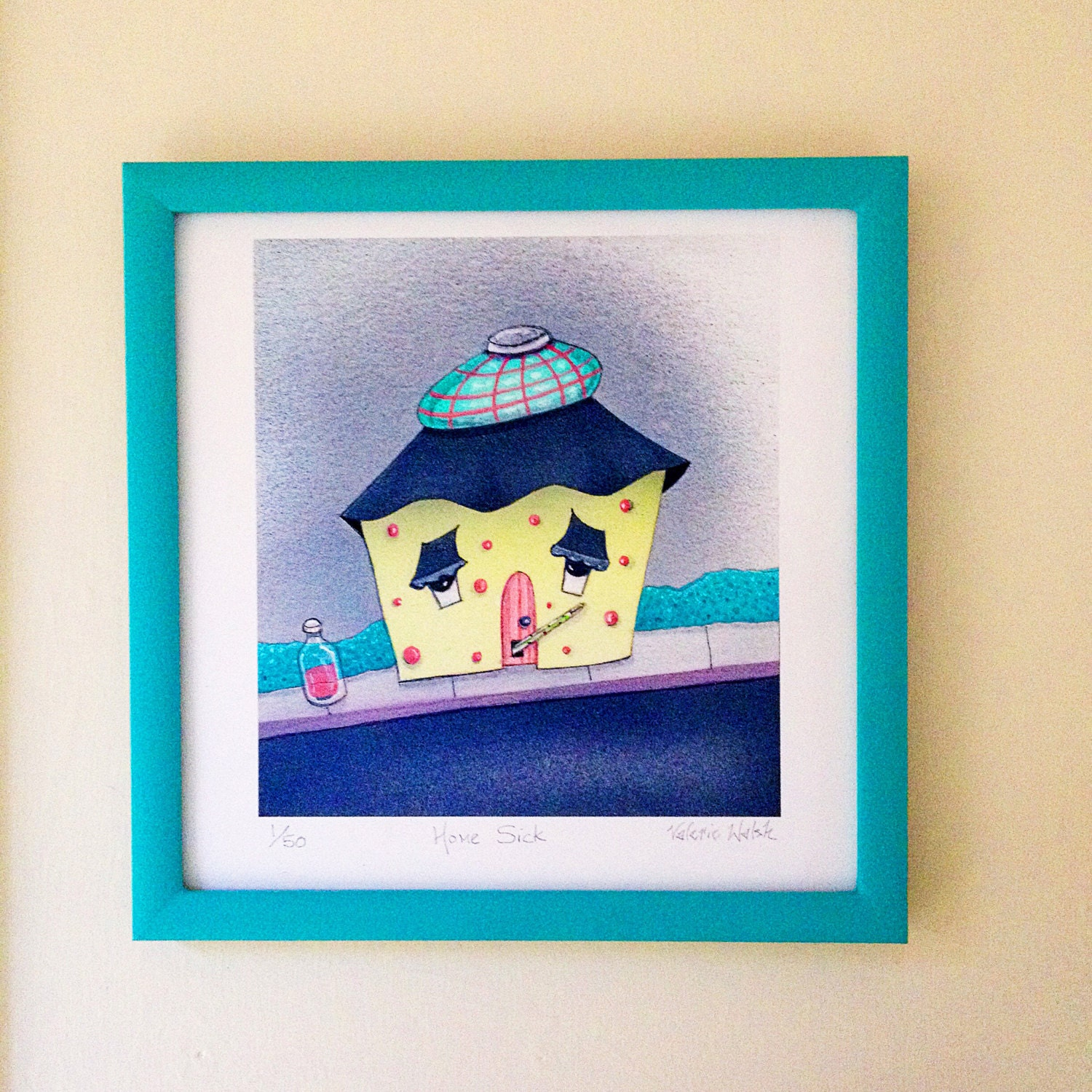 HOME SICK Framed Art Print | Home Sick Travel Painting | House ...