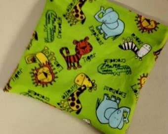 Zoo Animals Reusable Snack Bag