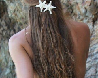 Knobby Duo Barrette, Starfish Hair Clip, Mermaid Accessory, Beach Weddings