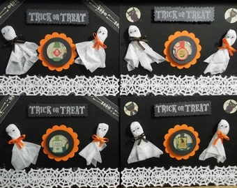 Trick or Treat Ghost Halloween 2012 Greeting Cards