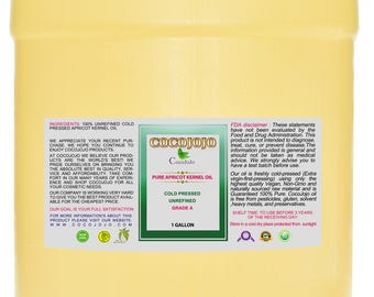 Pure Apricot Kernel Oil 100% Unrefined Extra Virgin Cold Pressed