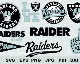 Oakland Raiders  Svg, DFX  Eps, , Vector, Cut File Silhouette Studio Cameo Cricut Design Template Stencil Vinyl Decal