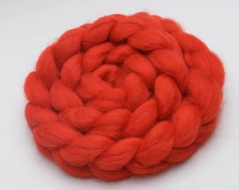BFL Wool Combed Top Red - Heritage Breed - 100 grams