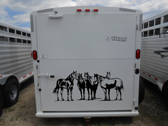 Horse herd vinyl decal sticker horse trailer bumper sticker