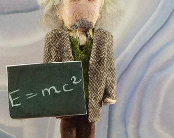 """Albert Einstein Nutcracker 8"""" Size Limited Edition One of a Kind Science Geek Art"""