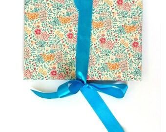 Accordion Book Summerflower teal turquoise Brag Book