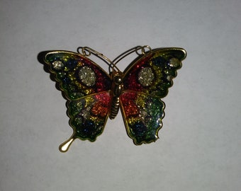 Cloisonne butterfly pin from the '70's