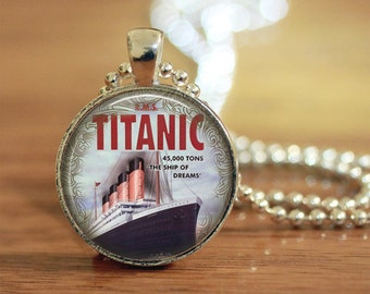 Titanic Pendant Necklace Silver Womens Gift