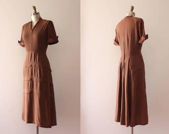 vintage 1940s dress // 40s rayon dress