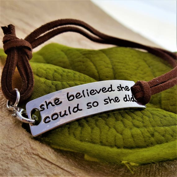 CrossFit Jewelry, Fitness Leather Wrist Wrap You Are Strong Brave Smart Bracelet, Believe in Yourself Inspirational Quotes, Word Charms Gift