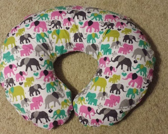 Elephant Lovers Boppy Pillow Cover, Nursing pillow cover