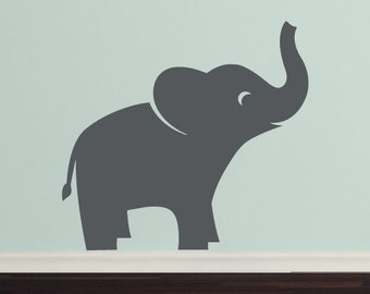 Elephant Wall Decal Set, Jungle Safari, Childrens Wall Art, Nursery wall Decals
