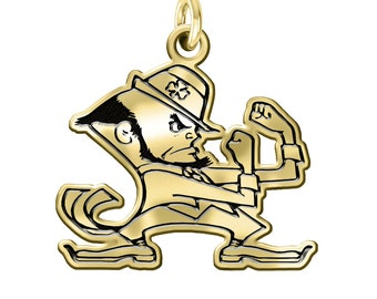 Notre Dame 14kt Yellow Gold Charm.  Can be worn on a Necklace or Bracelet