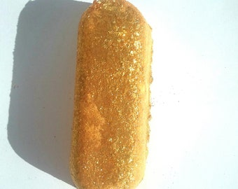 Golden Sweet Cake,Twinkies Type,  floating, spinning bath bomb,