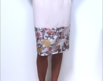 Soft pink skirt with elastic waist
