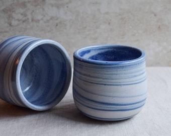 Ceramic Mug, Handmade Ceramic Mug, Blue marbled ceramic mug, contemporary mug, Ceramic Cup, Ceramic Tumbler, Porcelain Mug, Coffee Mug (M45)