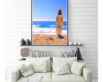 Surfboard Print | California Wall Art | Digital Download | Beach Wall Art | Surfboard Art Print | Printable Art | California Decor