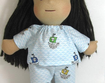14 inch 15 inch Waldorf doll pirate ship pajamas, doll clothes, toy pajamas