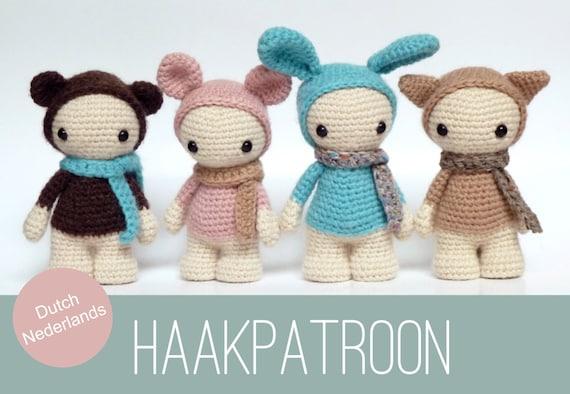 Amigurumi Patronen : Dutch nederlands amigurumi crochet pattern of four cute