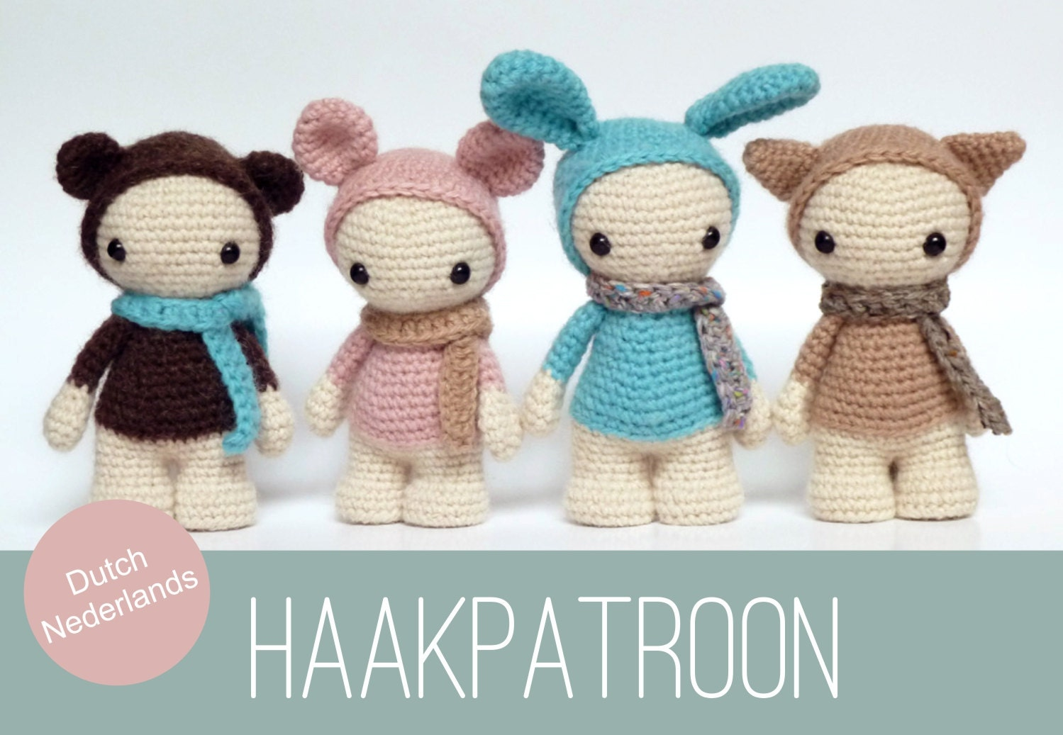 Amigurumi Leren Haken : Dutch nederlands amigurumi crochet pattern of four cute