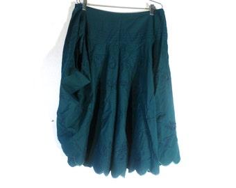 Vintage 90s Cotton Skirt Zashi New Old Stock