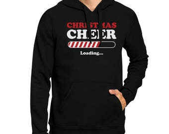 Christmas Cheer Loading Black Hoodie [JHD034]
