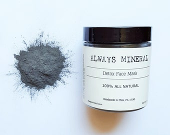 Detox Face Mask. Activated Charcoal. Bentonite clay. Tea tree.