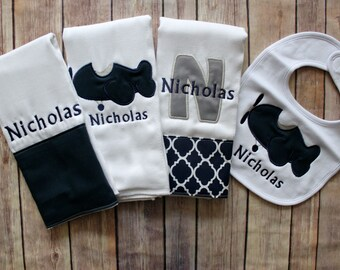 Airplane baby boy etsy monogrammed baby boy gift monogrammed boy burp cloth personalized baby boy gift airplane negle Gallery