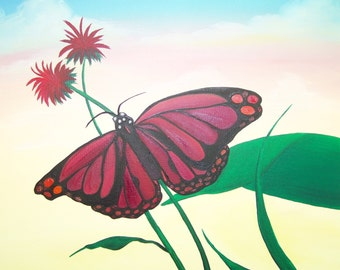 Butterfly Sky Painting