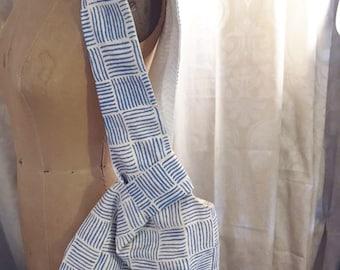 Linen Japanese Knot Bag