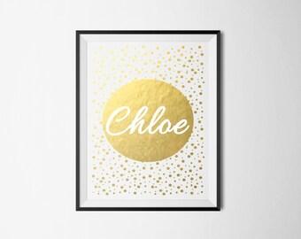 Name Foil Print Circle/Mini Spots (Add your name) REAL FOIL